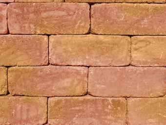 Antikolt blokkelem sárga-piros 40*20*15 cm