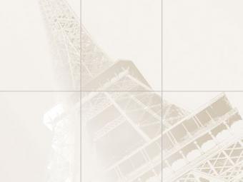 Paris Tour Eiffle 6 db-os dekor